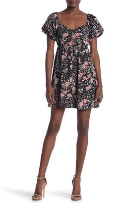 Max & Ash Floral Print Babydoll Mini Dress