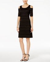 Nine West Knit Cold-Shoulder Sheath Dress