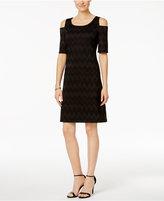 Nine West Off-The-Shoulder Knit Sheath Dress