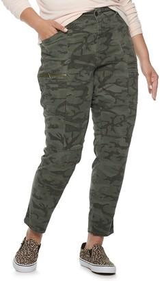 UNIONBAY Juniors' Plus Size Twill Moto Skinny Pants