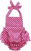 Wennikids Baby Girl's Summer Dress Clothing Ruffle Baby Romper Large