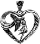 Summit Fairy Heart Pendant - Collectible Medallion Necklace Accessory Jewelry