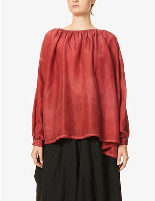 UMA WANG Trish round-neck silk top