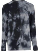 River Island Mens Navy tie dye slim fit jumper