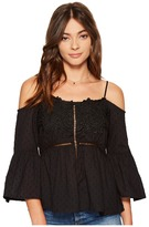 Romeo & Juliet Couture Off Shoulder Strap Top with Lace Front