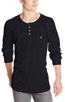Original Penguin Men's Worrell Long Sleeve Henley Shirt
