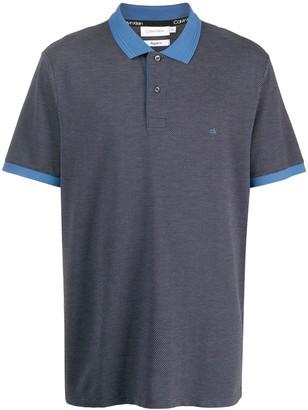 Calvin Klein Contrast-Collar Polo Shirt