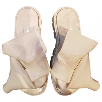 N°21 N21 White Leather Sandals