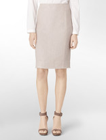 Calvin Klein Tweed Pencil Suit Skirt