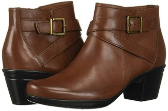 Clarks Emslie Cyndi (Mahogany Leather) Women's Boots