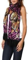 Ed Hardy Womens Skull Knit Scarf - Purple/Black