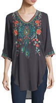 Johnny Was Zivelli Embroidered Georgette Long Tunic