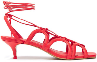 Zimmermann Lace-up Cutout Leather Sandals