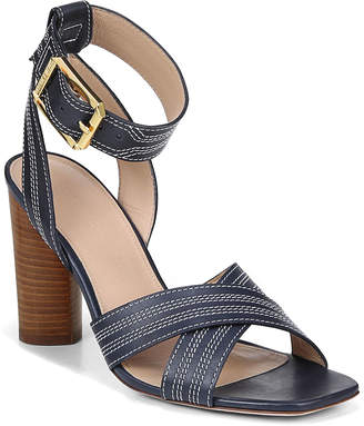 Veronica Beard Kresby Leather Ankle-Strap Sandals