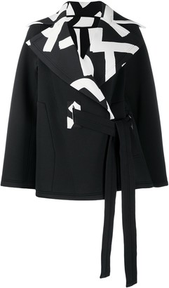 Issey Miyake Contrast Collar Coat