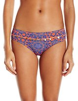 Bikini Lab Women's Pedal To The Medal-Lion Wide Hipster Bottom
