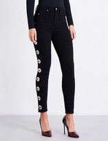 Good American Good Waist Grommets skinny high-rise jeans