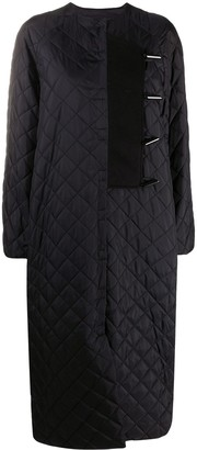 Ganni Toggle Fastening Quilted Coat