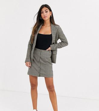 Y.A.S Silla button through check a line skirt two-piece