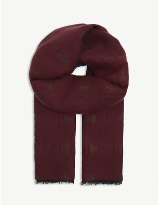 Vivienne Westwood Orb-print wool-blend scarf