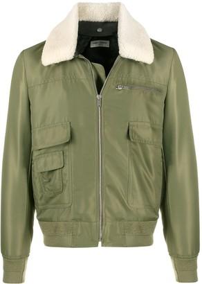 Saint Laurent Shearling-Collar Jacket