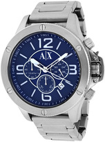 Giorgio Armani Exchange AX1512 Men's Classic Silver Stainless Steel Chronograph Watch