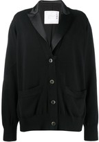 Sacai relaxed fit knitted blazer