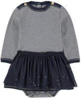 Petit Bateau Striped onesie dress