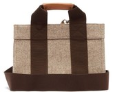 Rue De Verneuil - Lady Small Leather-trimmed Felt Tote Bag - Womens - Grey Multi