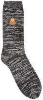 Folk Black Melangé Cotton Blend Socks