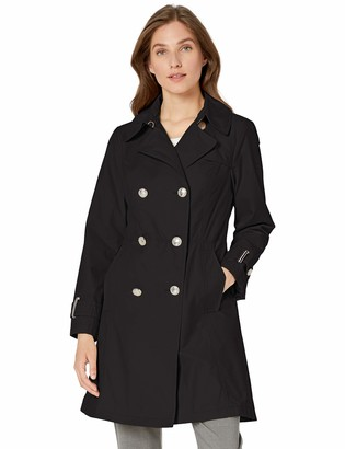 Vince Camuto Women's Double-Breasted Trench Coat Rain Jacket Outerwear