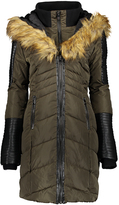 Bebe Olive Quilted Puffer Coat