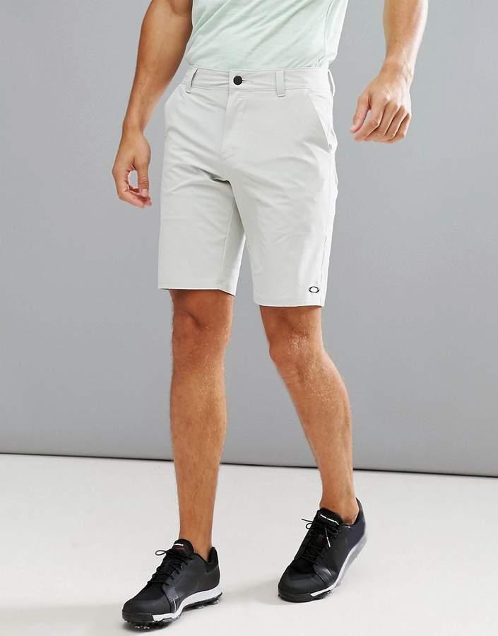 Oakley Golf Stance 2 Chino Shorts Slim Fit In Grey