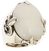 Femme Metale Snow Quartz Noble Fleur Ring