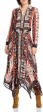 Lini Rose Mixed Print Handkerchief Hem Dress - 100% Exclusive