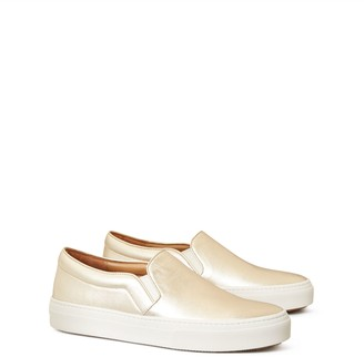 Tory Burch Slip-On Metallic Sneaker