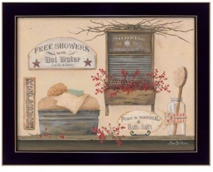 "Trendy Décor 4U Free Showers By Pam Britton, Printed Wall Art, Ready to hang, Black Frame, 18"" x 14"""