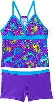 Speedo Girls' Neon Love Boyshort Two Piece Swimsuit (7yrs16yrs) - 8137127