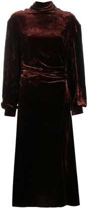 Acne Studios Mock Neck Velvet Dress