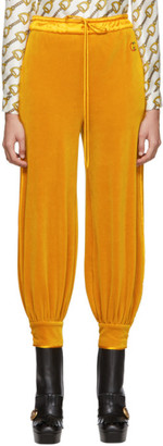 Gucci Yellow Chenille Jogging Lounge Pants