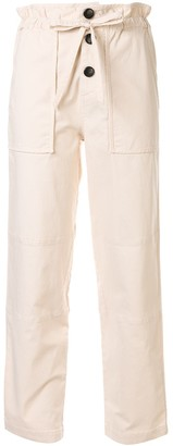 Sea Cropped Paperbag Trousers