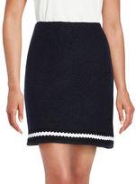Helene Berman Crochet Contrast Trim Skirt