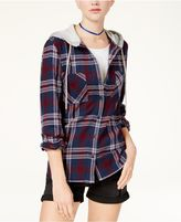 Polly and Esther Juniors' Plaid Hoodie