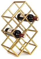 Danya B. 9-Bottle Wine Rack in Sparkling Gold