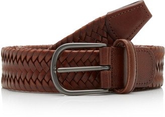 Andersons Woven Textured-Leather Belt