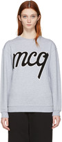 McQ by Alexander McQueen Grey Logo Classic Pullover