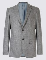 Marks and Spencer Pure Wool Harringbone Jacket
