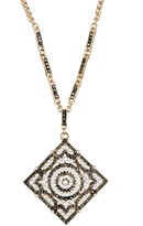 Natasha Accessories Vintage Synthetic Pearl & Crystal Pendant Necklace
