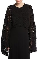Rosetta Getty Cropped Patchwork Crochet Sweater