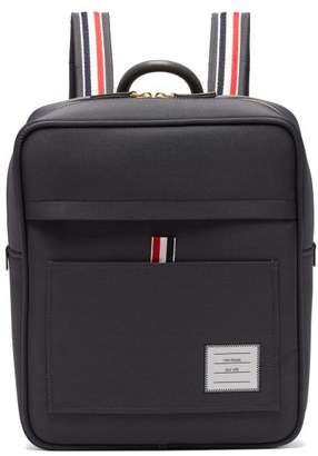 Thom Browne Book Zip Top Nylon Backpack - Mens - Dark Grey